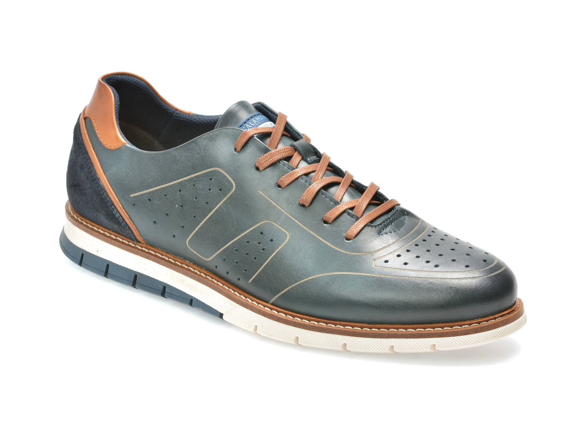 Pantofi SALAMANDER bleumarin, 56502, din piele naturala