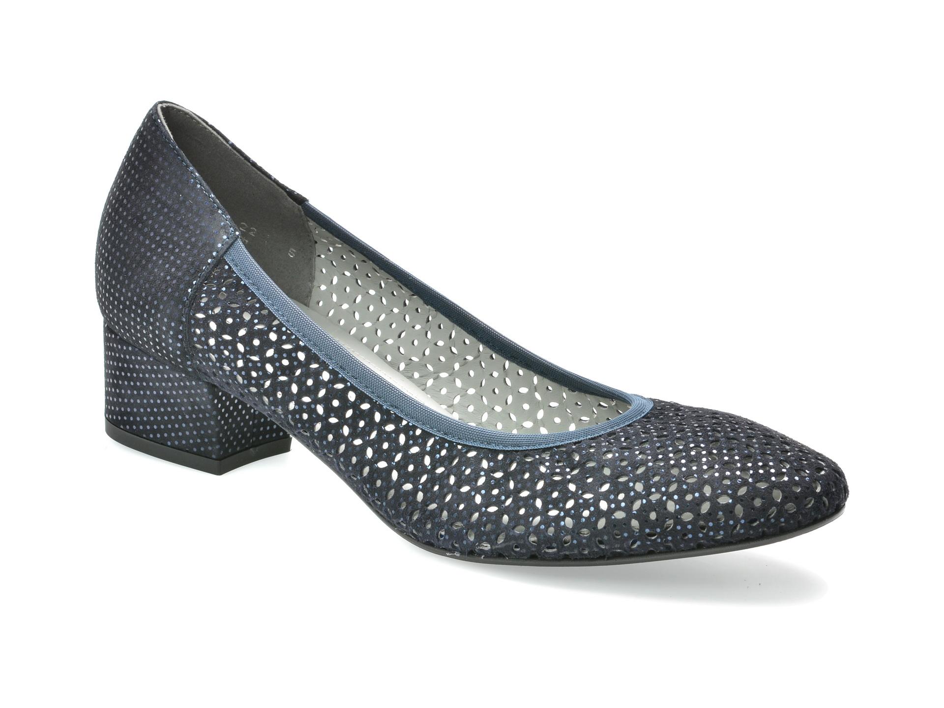 Pantofi SALAMANDER bleumarin, 18406, din piele naturala