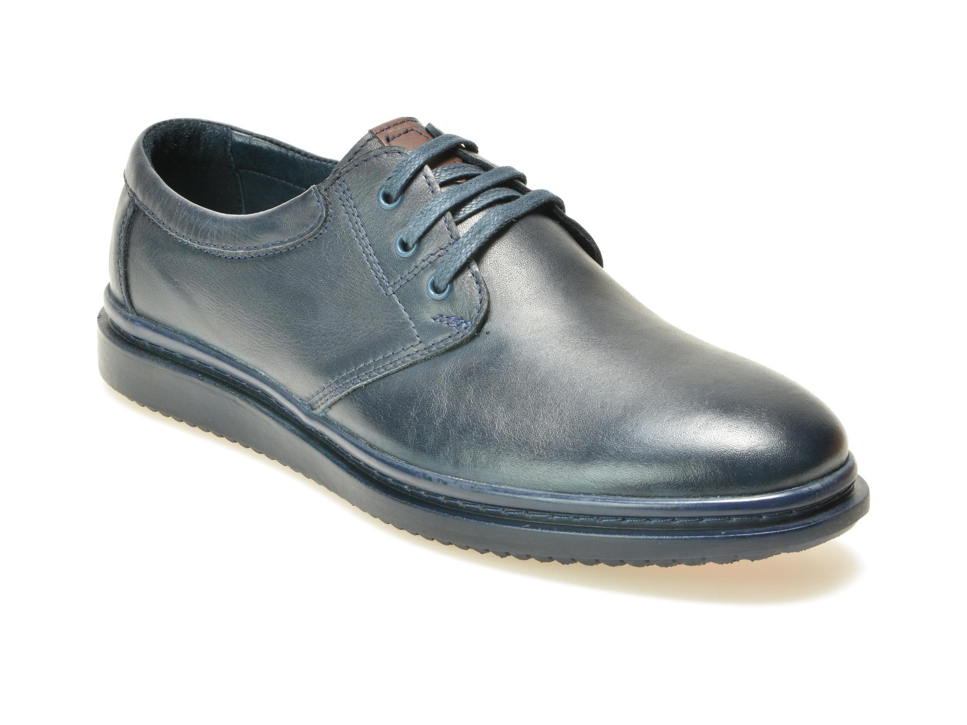 Pantofi OTTER bleumarin, M4182, din piele naturala