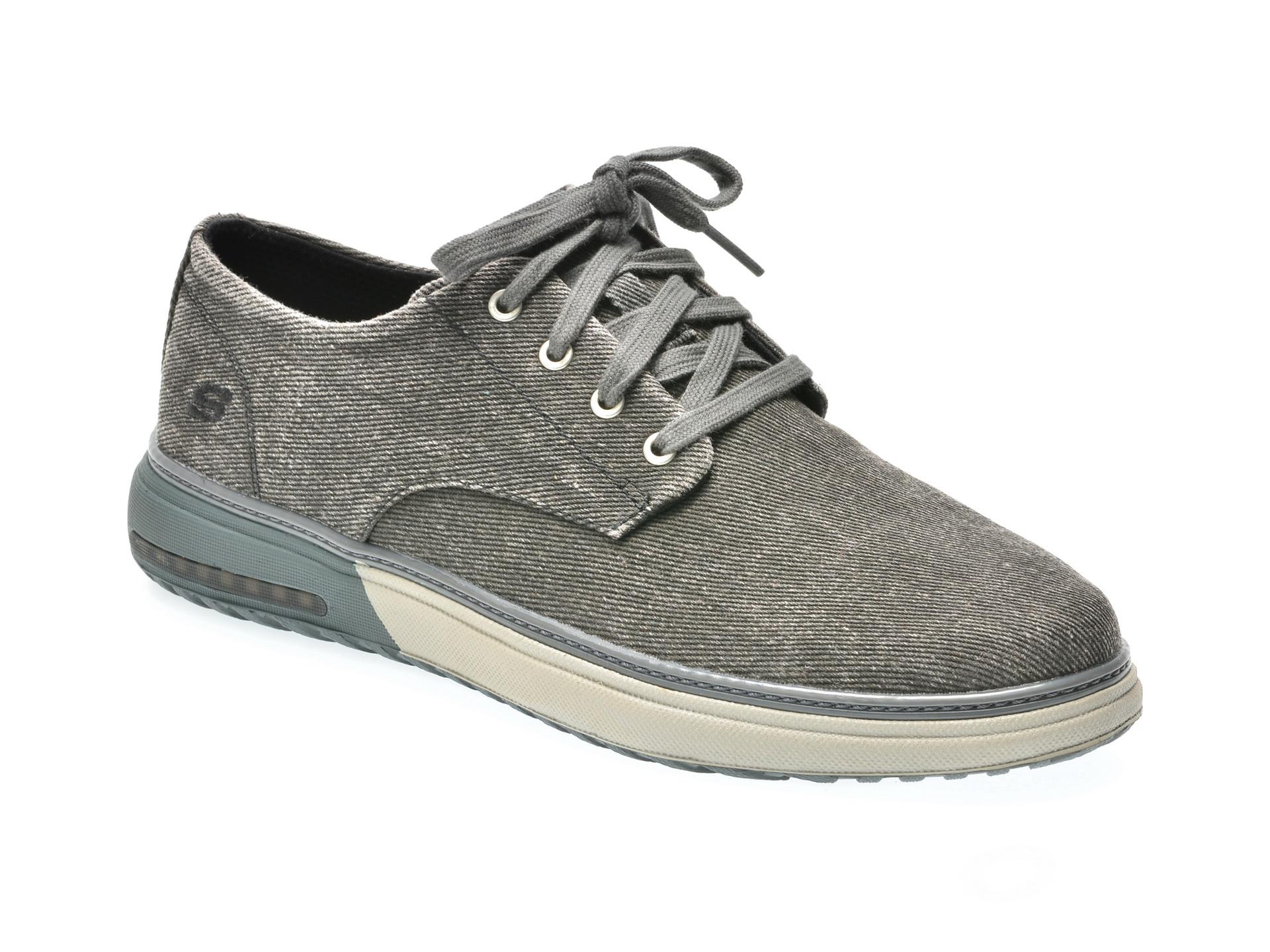 Pantofi SKECHERS gri, 65371, din canvas