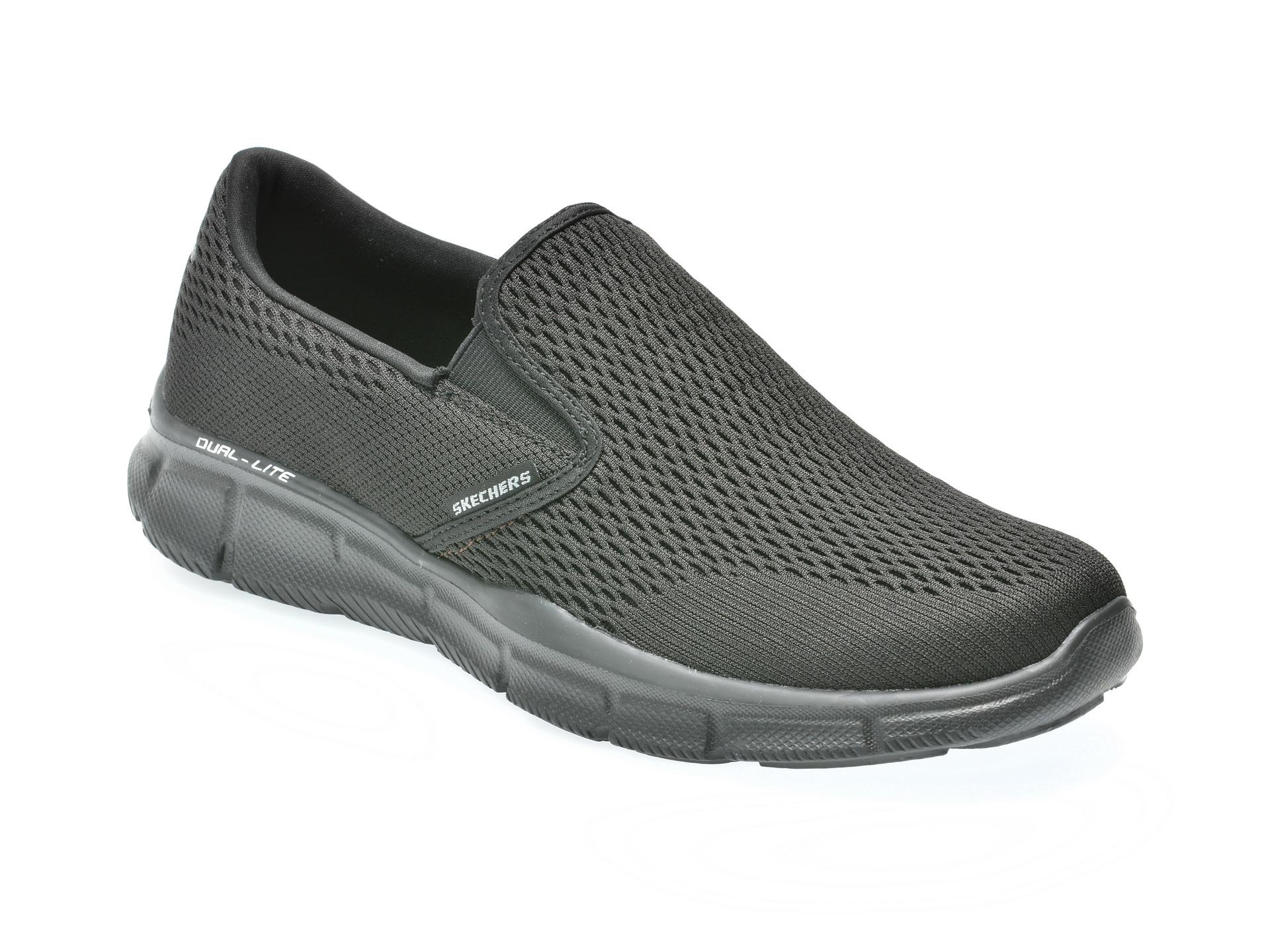Pantofi sport SKECHERS negri, 51509, din piele ecologica