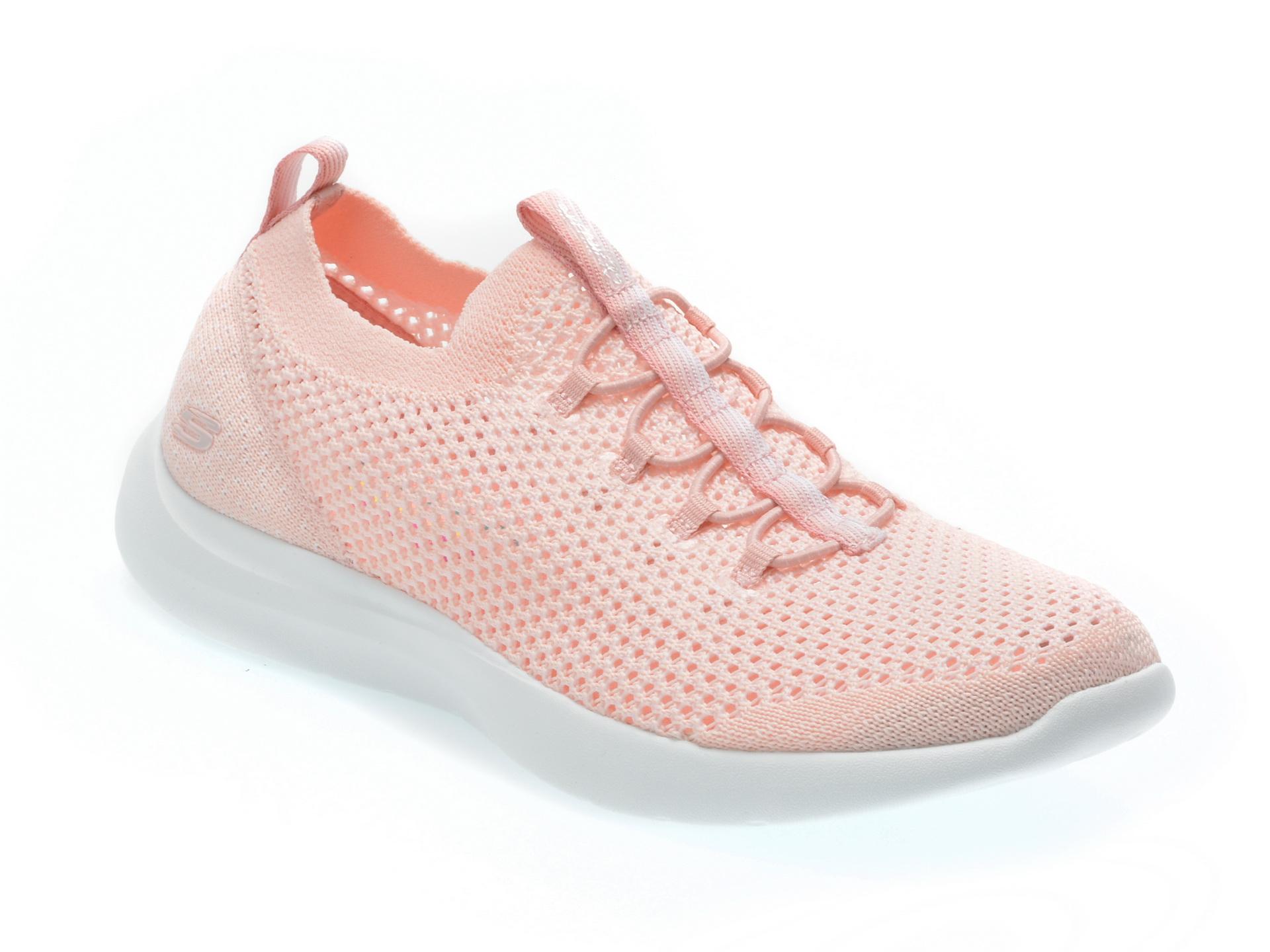 Pantofi sport SKECHERS roz, 12881, din material textil