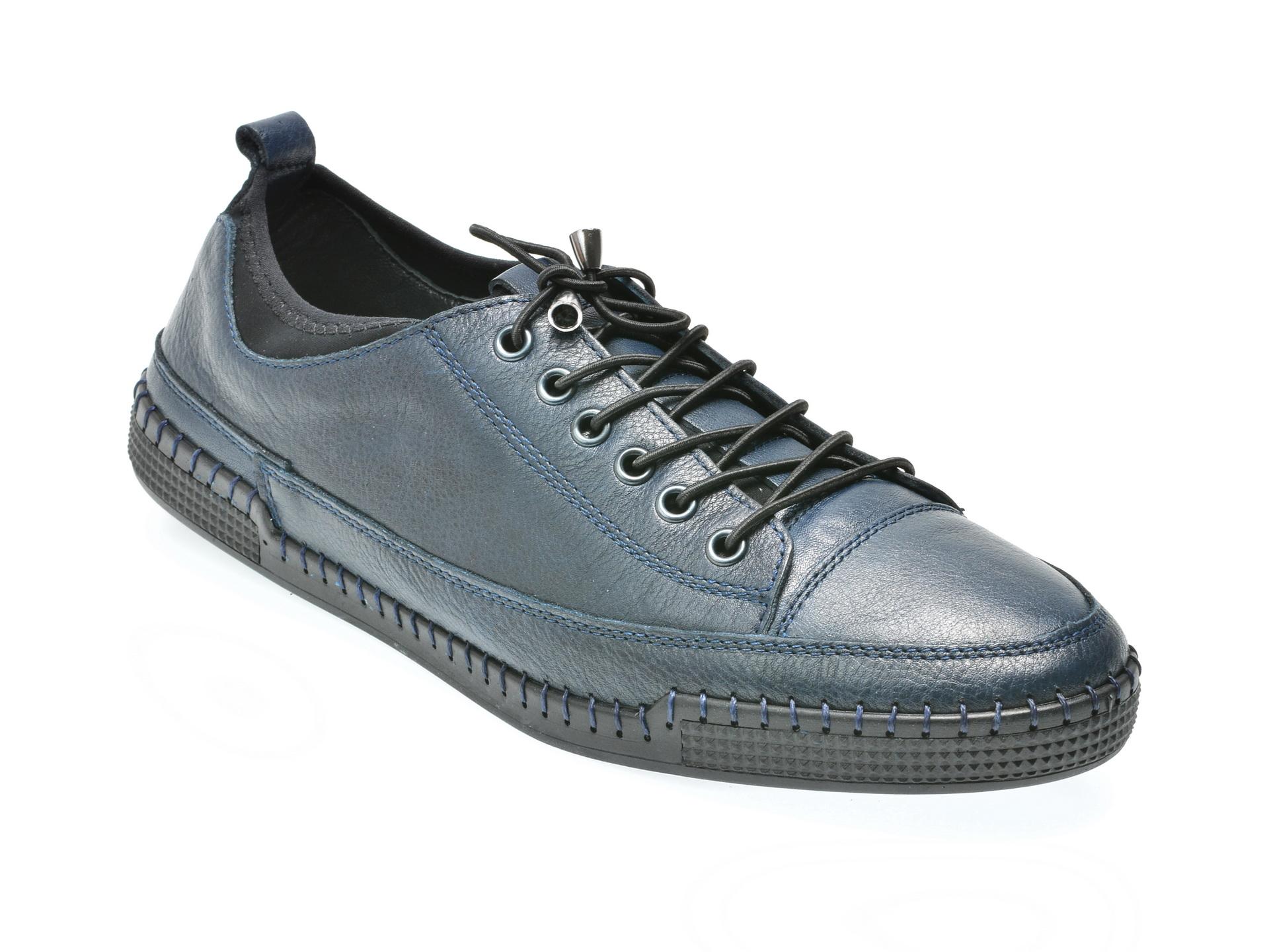Pantofi OTTER bleumarin, C2838, din piele naturala
