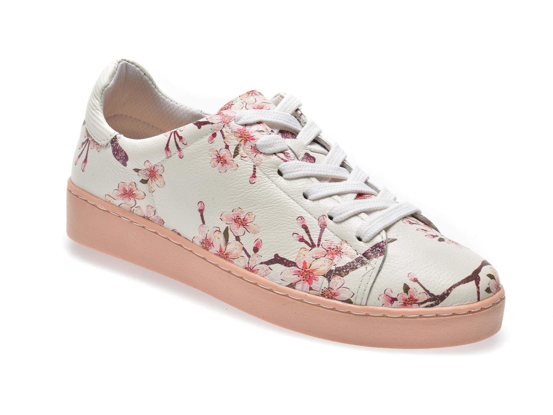 Pantofi FLAVIA PASSINI albi, 276505, din piele naturala