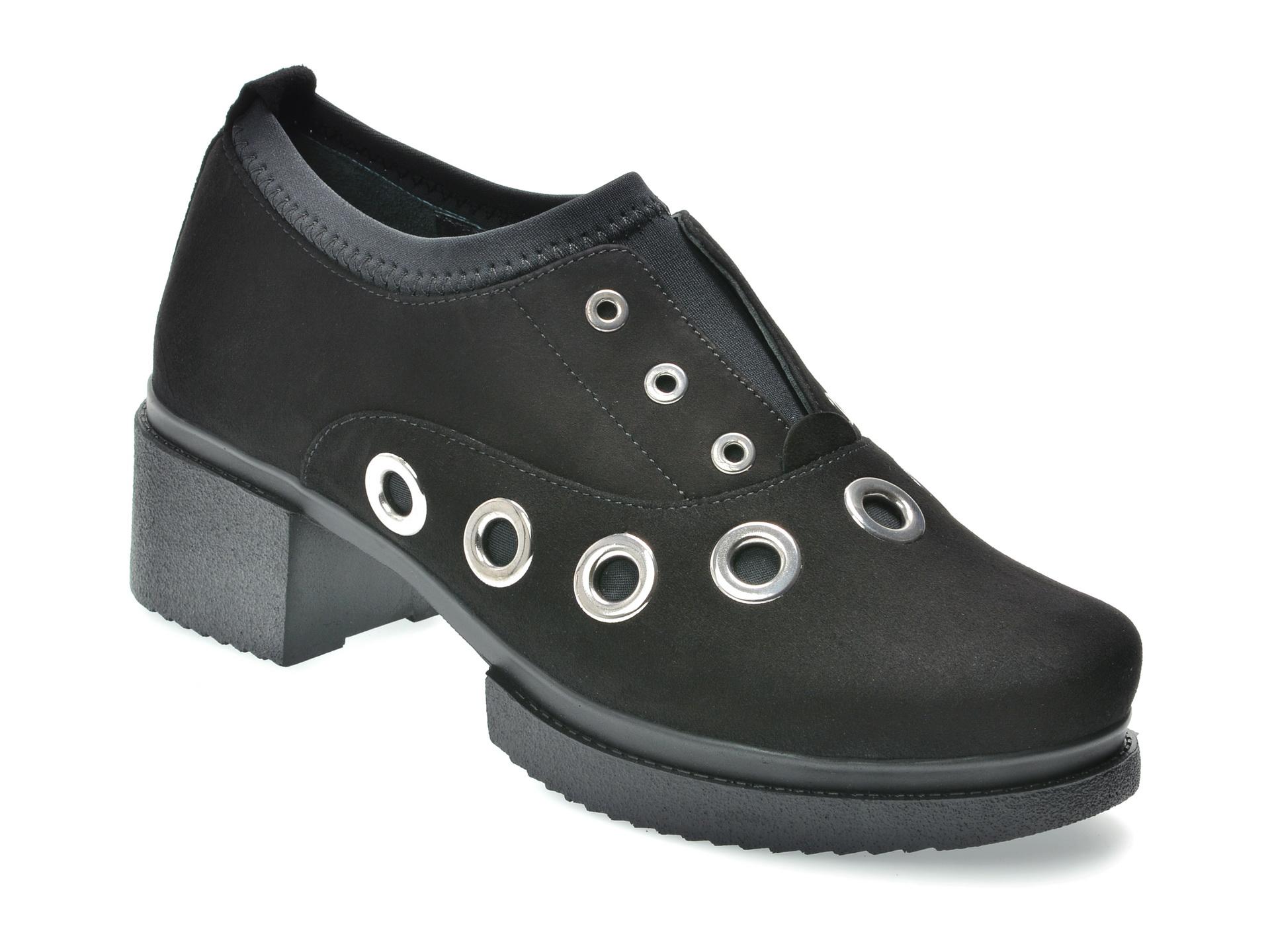 Pantofi FLAVIA PASSINI negri, 2851408, din piele intoarsa