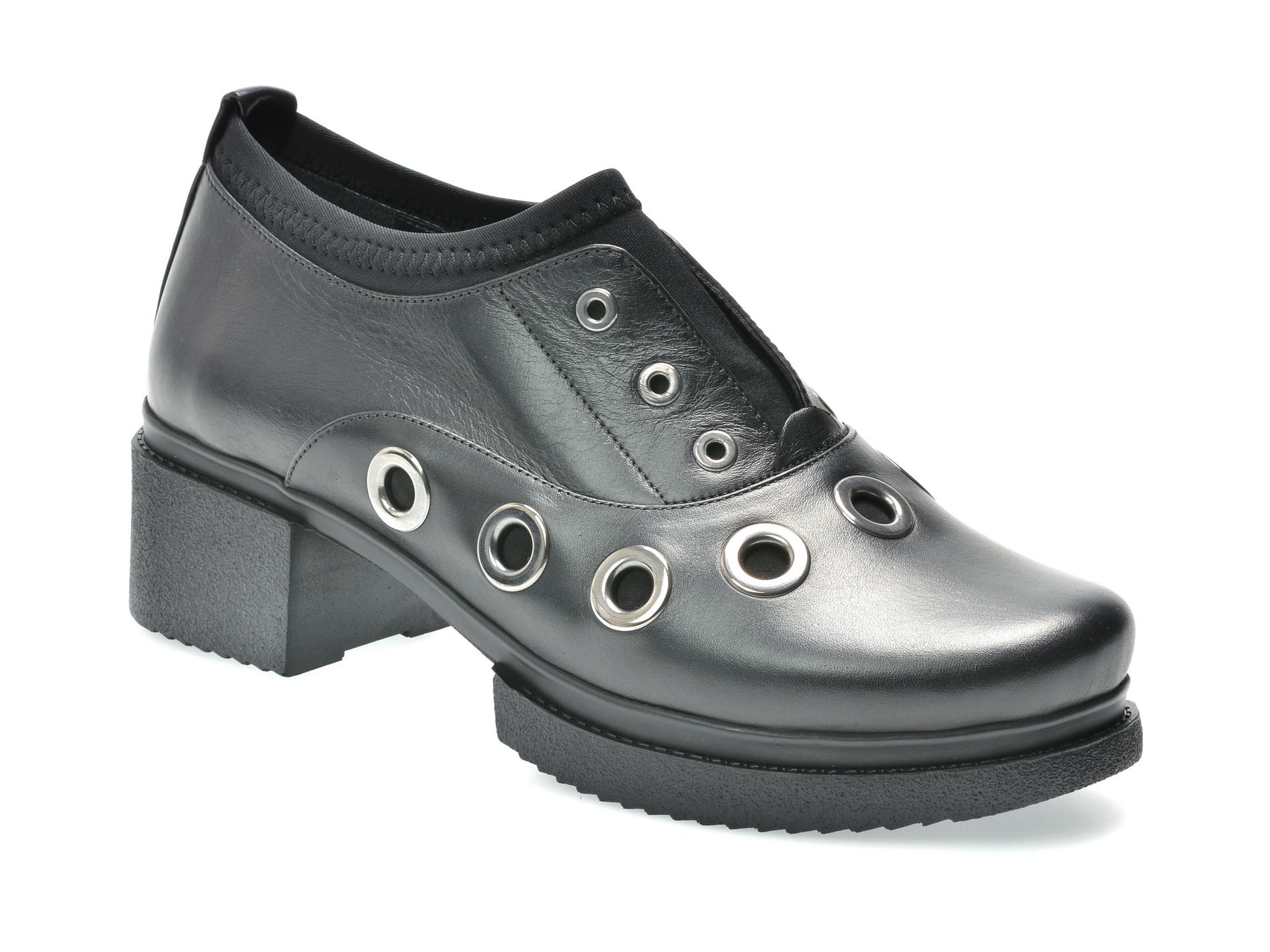 Pantofi FLAVIA PASSINI negri, 2851408, din piele naturala
