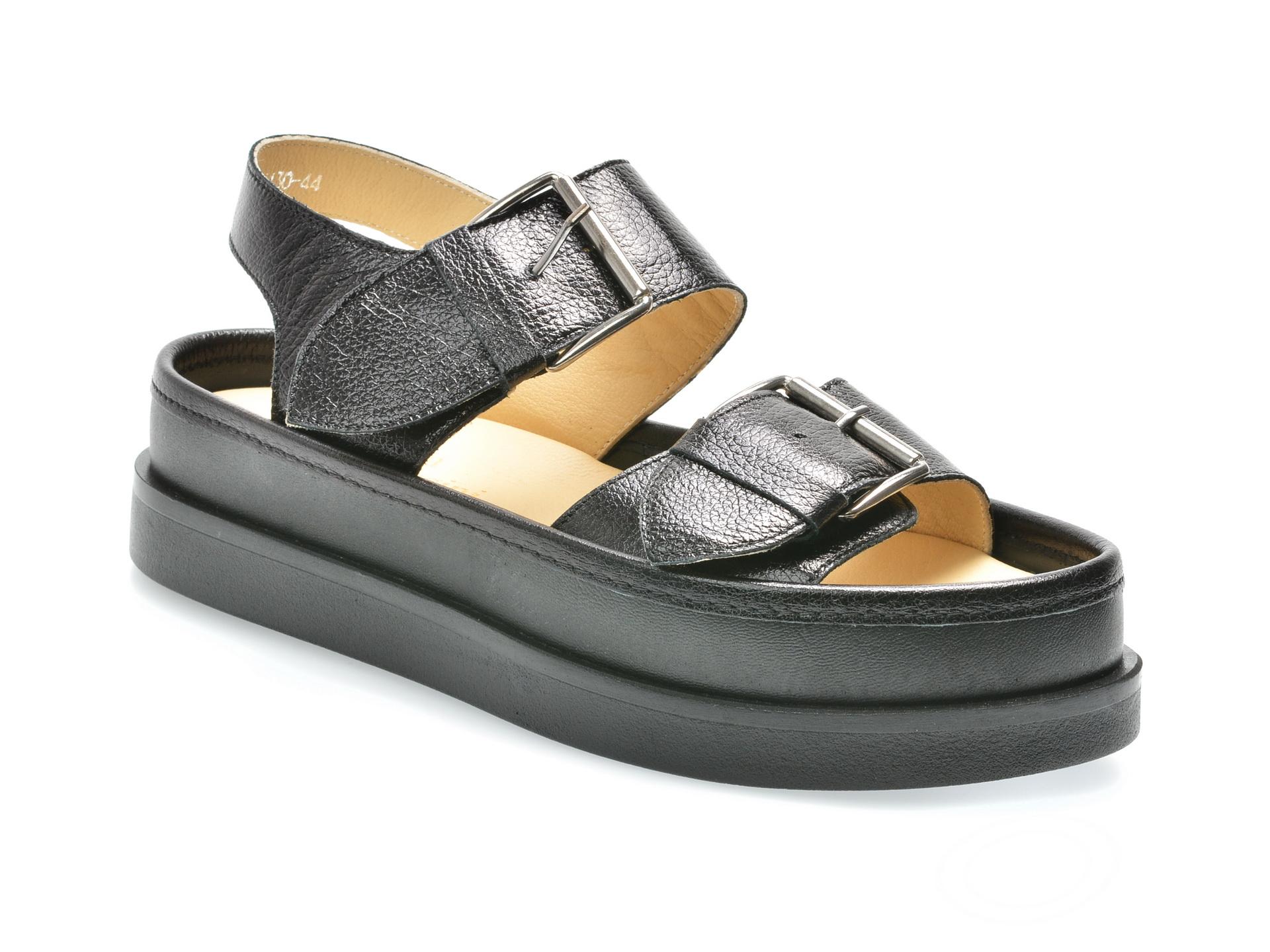 Sandale FLAVIA PASSINI negre, 361130, din piele naturala