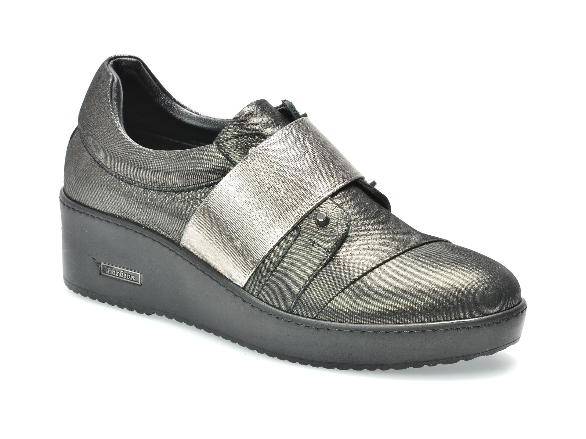 Pantofi FLAVIA PASSINI argintii, 1581407, din piele naturala