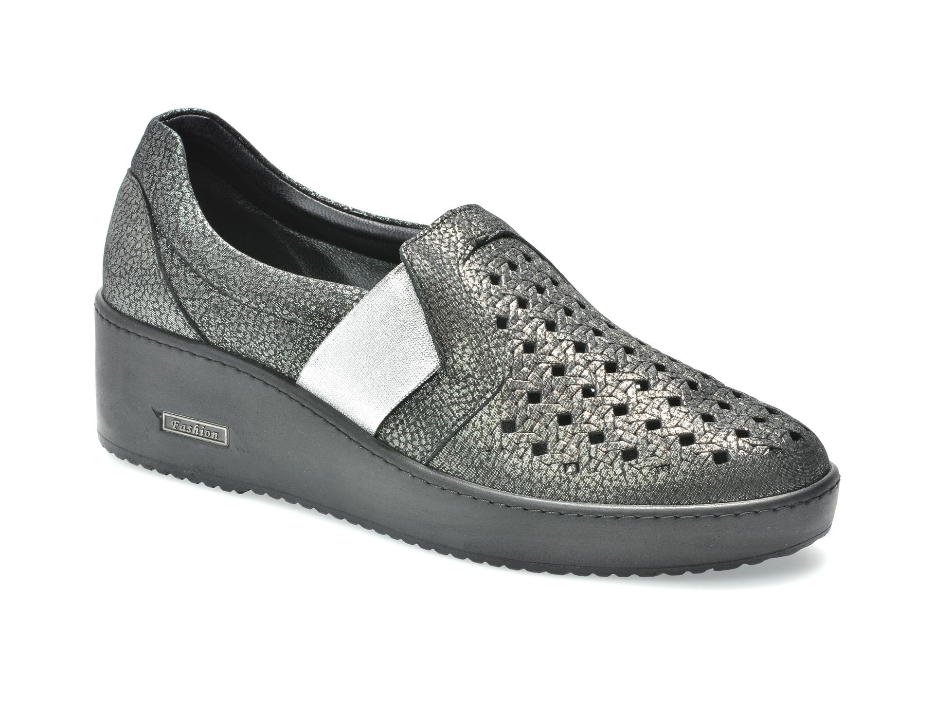 Pantofi FLAVIA PASSINI gri, 1583421, din piele naturala